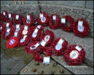 Remembrance Sunday 2014 RLA wreath on extreme right.
